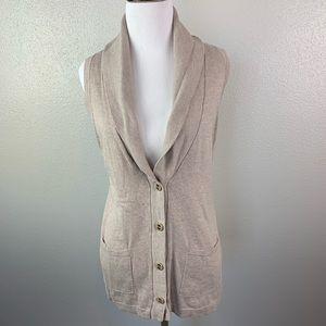 Ann Taylor loft button sweater vest